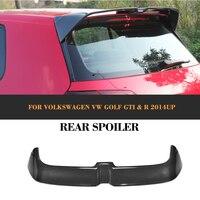 Otomobiller ve Motosikletler'ten Rüzgarlık ve Kanatlar'de Karbon Fiber Arka bagaj Çatı dudak spoiler Pencere Kanatları için Volkswagen VW Golf 7 VII MK7 GTI R Standart 14  17
