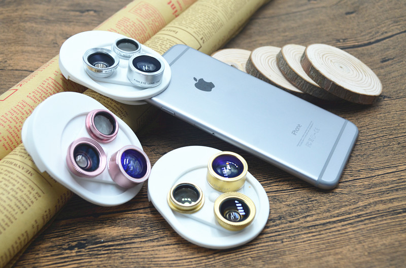 Fish eye Lens 4in 1 Clip-on Cell Phone Camera 180 Degree Fisheye Lens+Wide Angle CPL+Macro Lens for iPhone 7Plus Xiaomi & More 2