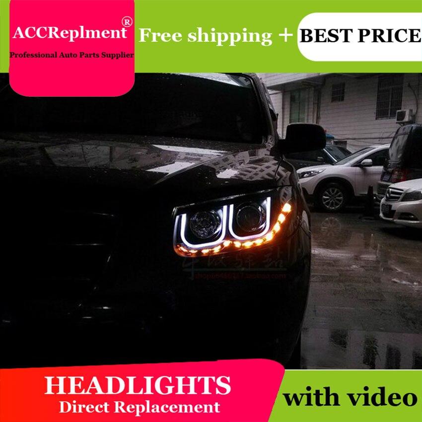 Авто. PRO 2006 2012 для hyundai IX45 фары Ангельские глазки для hyundai Santafe светодиодные лампы DRL руководство би ксенон объектив Тюнинг автомобилей