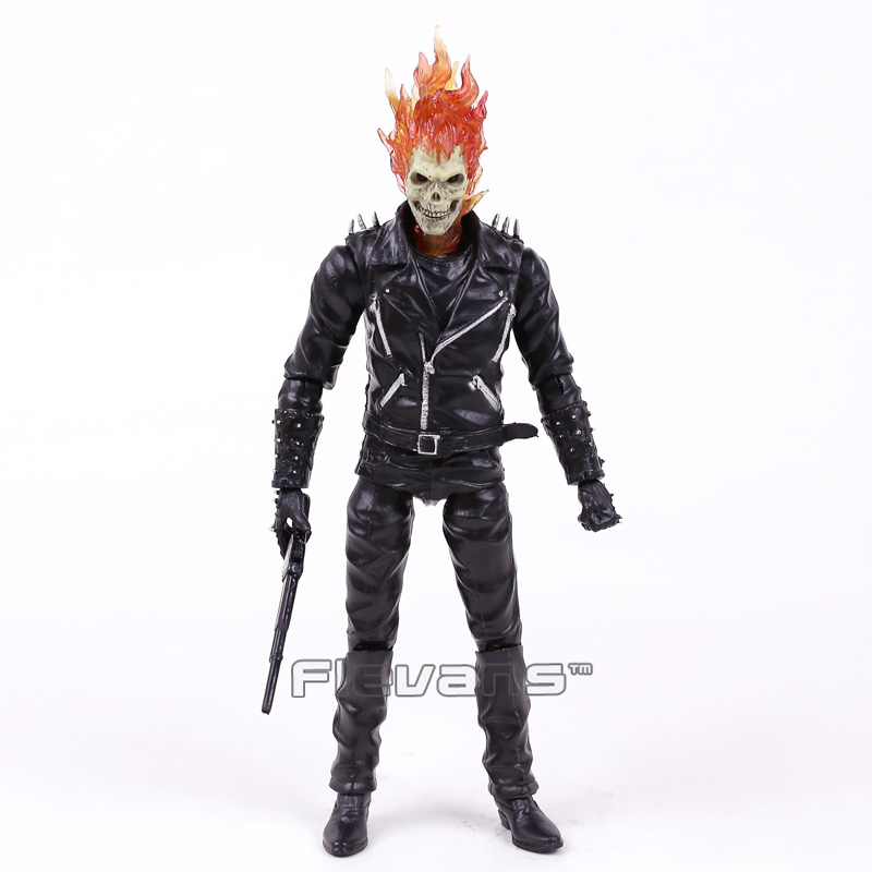 Marvel Ghost Rider Johnny Blaze PVC Action Figure Collectible Model Toy 23cm fire toy marvel deadpool pvc action figure collectible model toy 10 27cm mvfg363