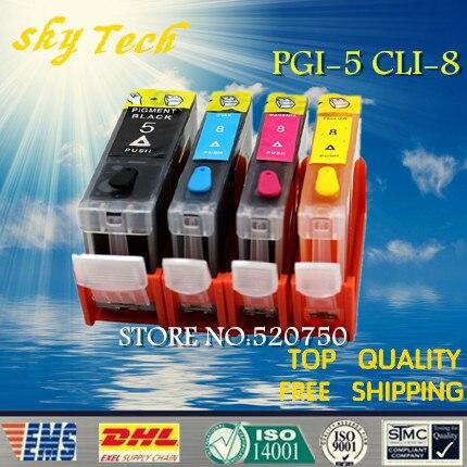 Cartuchos de tinta De Recarga Para PGI-5 CLI-8 cartuchos 4PK Completo, terno para canon ip 3500, ix4000, com fichas ARC