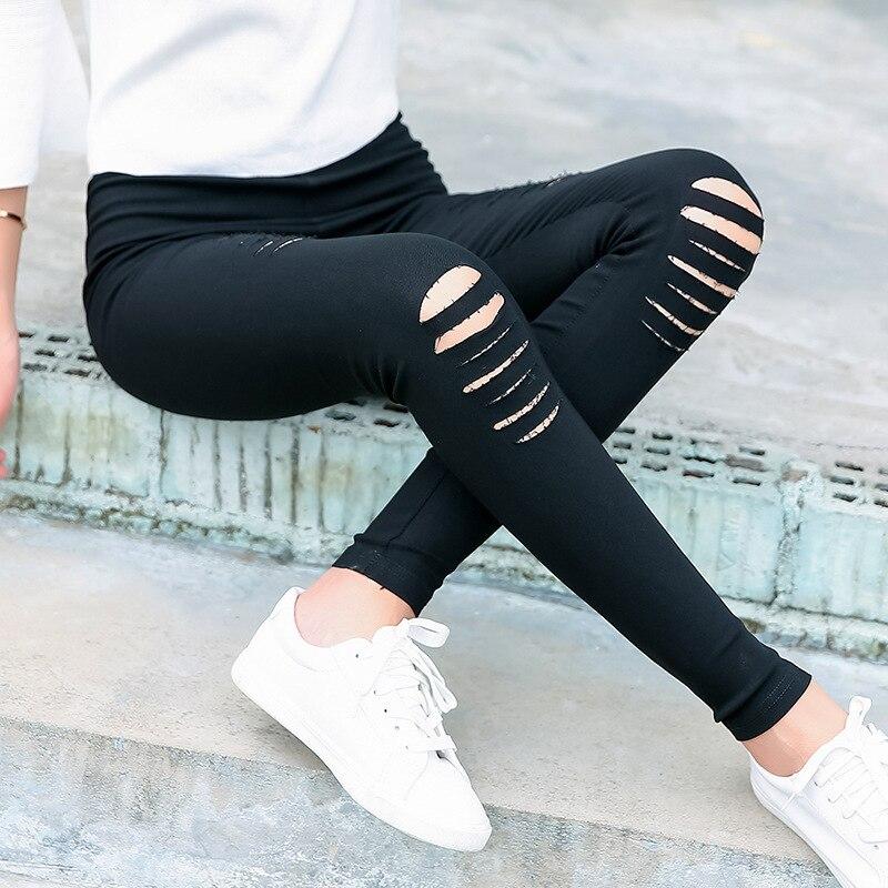 2018 Sexy Women   Leggings   Casual Fashion Skinny Slim Washed Jeggings Thin Elastic Holes   Legging   Pencil Pants For Women   Leggings