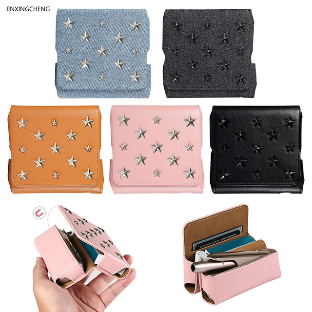 JINXINGCHENG Star Style Case for Iqos3.0 Flip Wallet Leather Case Bag for Iqos 3.0 Cover Magnet Pouch Protective Accessories