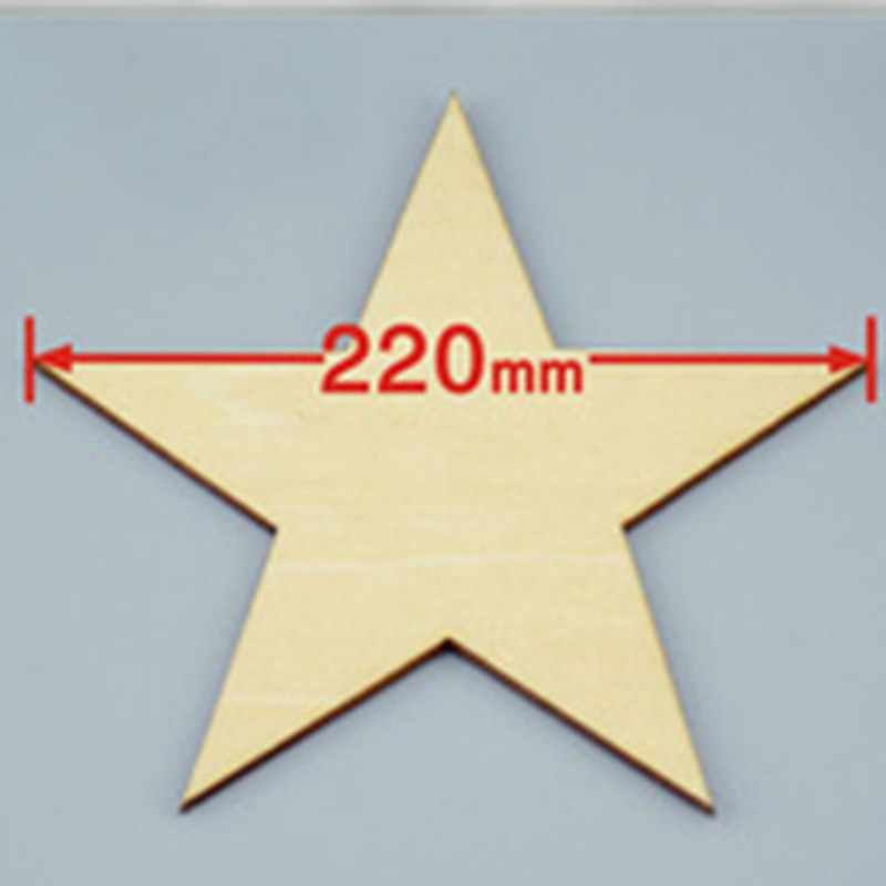 3pcs/lot 220mm Blank pentagram natural plywood Suitable for Christmas party wood wedding teaching of DIY accessories 001001080