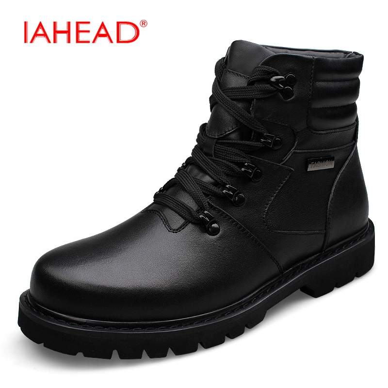 Men Boots High Quality Genuine Leather Shoes New Winter  Warm Snow Boots Plus Size 38-48 Work Safety Military Boots  MH513 mattusch carol c rediscovering the ancient world on the bay of naples 1710 1890