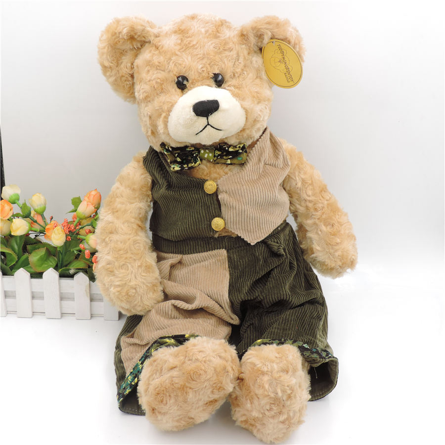 55CM Big Teddy Bear Stuffed Plush Toys Wearing Clothes Soft ...