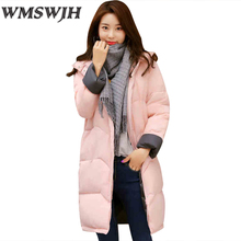 Hot promoting Winter Women Cotton Coat Fashion Long sleeved zipper straight Outerwear New Pure coloration stand collar parka WS245