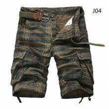 Men Shorts Plaid Beach Shorts 2019 Summer Mens Casual Camo Camouflage Shorts Military Short Pants Male Bermuda Cargo Overalls(China)
