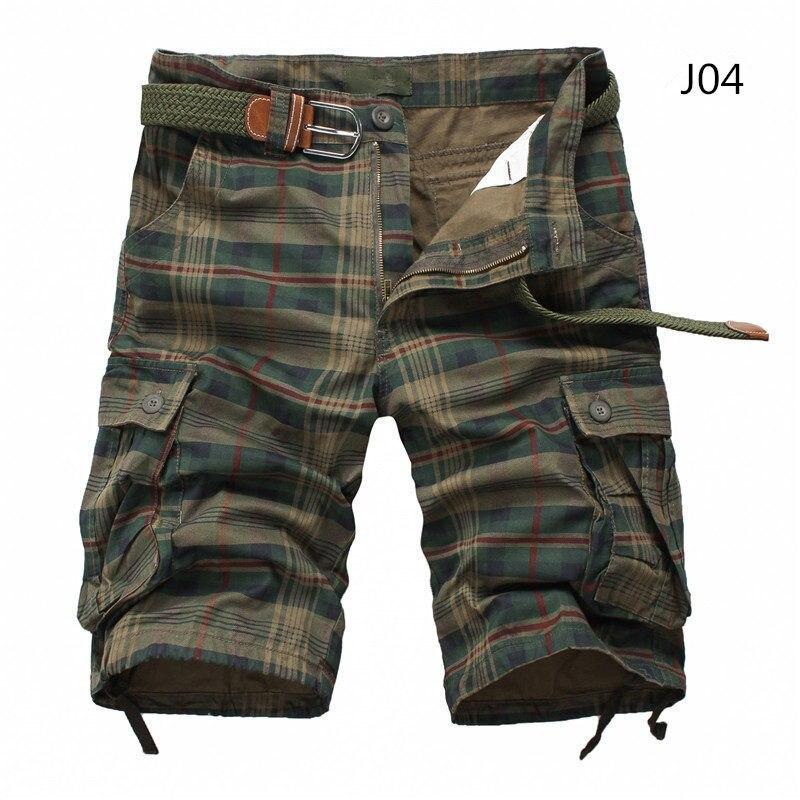Men Shorts Plaid Beach Shorts 2020 Summer Mens Casual Camo Camouflage Shorts Military Short Pants Male Bermuda Cargo Overalls
