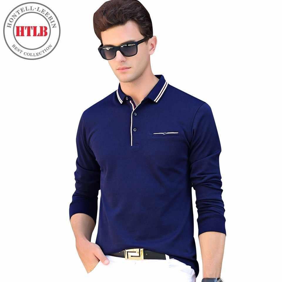 d83790343bd Htlb бренд Для мужчин осень Ralph Для мужчин Бизнес Повседневное  одноцветное Мужские Поло рубашка Мода Для