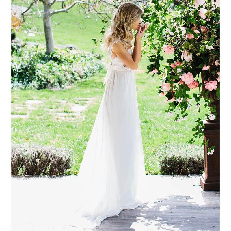 Ivory Greek Goddess 2017 Ivory Bohemia Wedding Dresses: Stunning Vintage Cap Sleeve Lace Boho White Ivory Beach