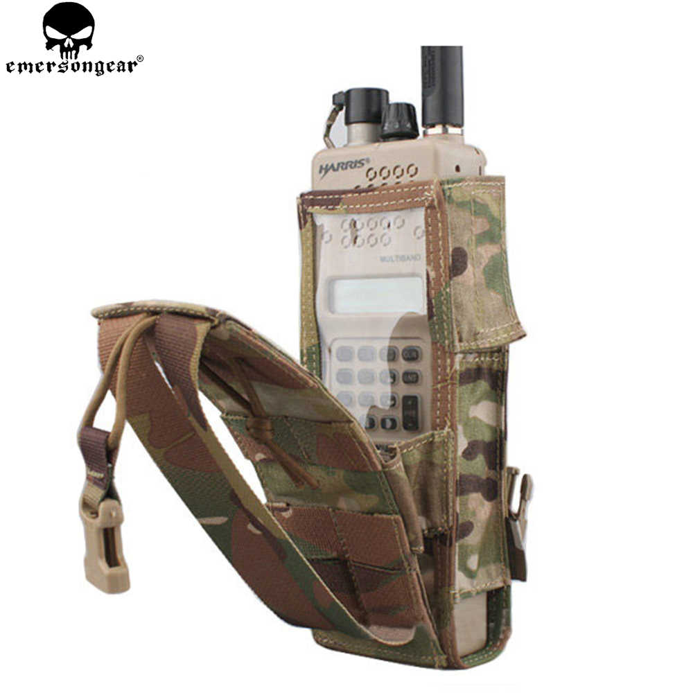 KRYDEX Radio Antenna Relocator Tactical Antenna Retention Kit MOLLE Multicam