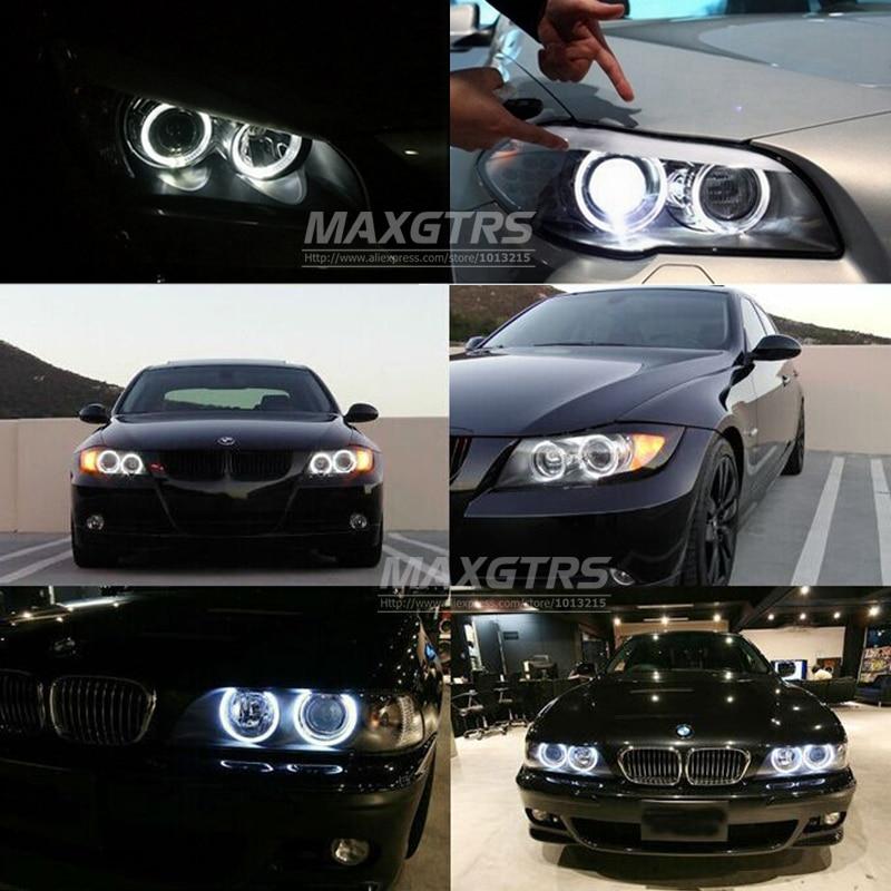 2x dritë pambuku Angel Eye LED DRL Motor mjegull mjegull Dritë Halo - Dritat e makinave - Foto 6