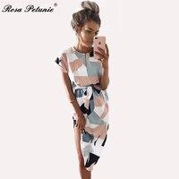 Rose Petunie 2017 Boho Style Long Dress Women Short Sleeve Beach Summer Dresses Print Vintage White