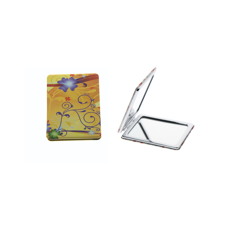 Schönheit & Gesundheit Gewidmet 8,5*6 Cm Rechteck Doppelseitige Edelstahl Falten Portable Espejo De Maquillaje Espelho De Maquiagem Große Kosmetikspiegel