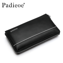 New Design men genuine leather wallet Black luxury mens wallet  fashion men's day clutches high quality business wallet men