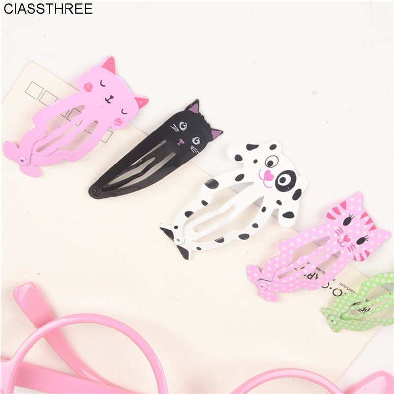 6pcs lot Fashion Women Animal Hairpin headwear kid's barrettes Hair clips Jewelry Snap Clips Children Hair Accessories fashion watchband for fitbit alta smart watch fitbit blaze steel band swees milanese stainless steel replacement accessories