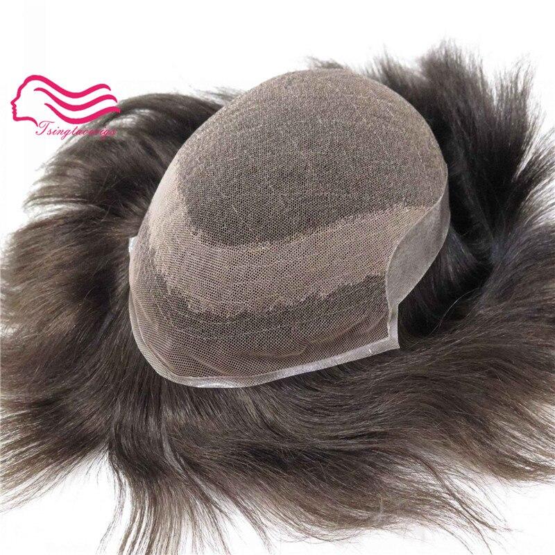 Alitsingtaowigs Swiss lace front hair natural toupee men wig hair men toupee Hair Replacement Men Toupee