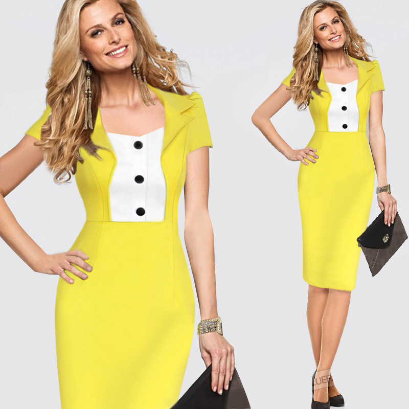 Yellow dresses bring a splash of sunshine to your wardrobe. Go bold with a buttercup sundress that's an ideal choice for picnics or walks along the beach. A patterned maxi in a creamy pastel shade suits a summer wedding, while in the cooler months, golden shades look elegant with faux fur.
