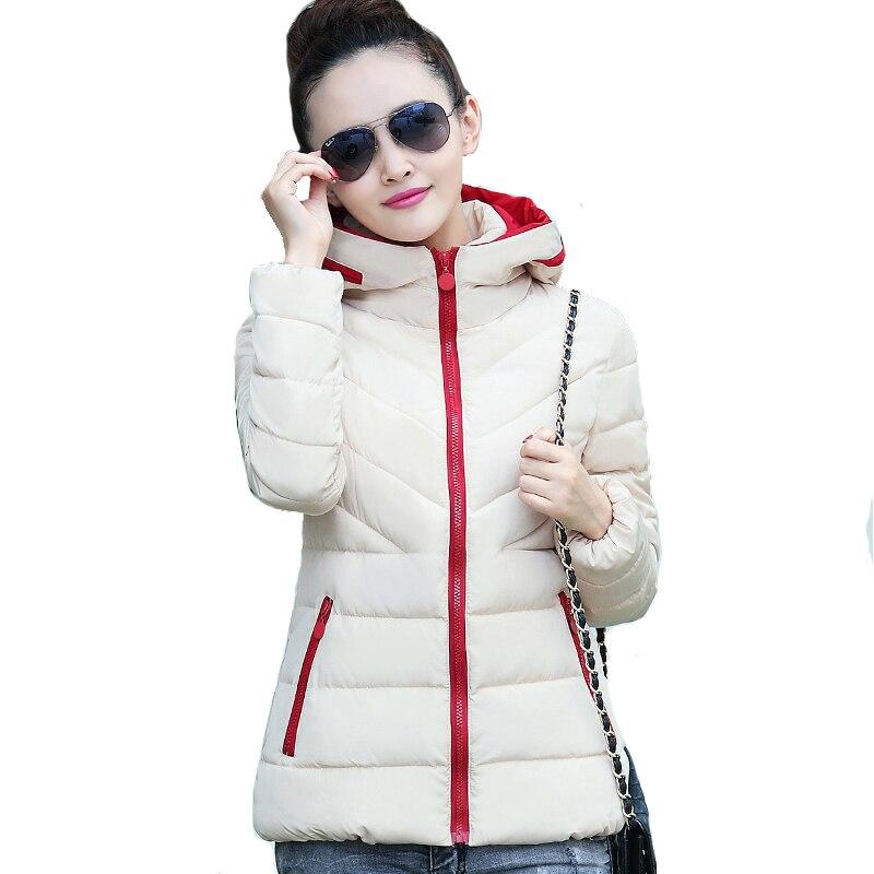 2018 grande taille 3XL d'hiver à capuchon femmes veste ultral lumière couleurs court jaqueta feminina inverno automne femelle manteau survêtement
