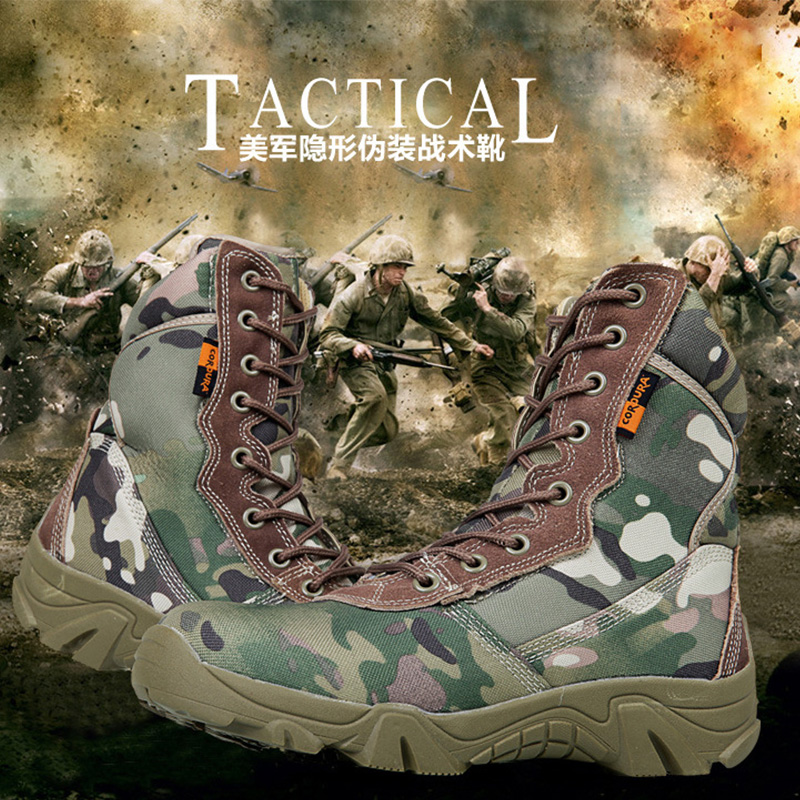 ФОТО Military Tactical Combat  Boots Army Men Ankle Desert Boots Autumn Spring Travel Hiking Outdoor Climbing Shoes Bota masculina