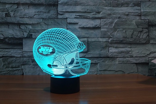 new york jets light 7 color colorful football helmet led light night light drop shipping