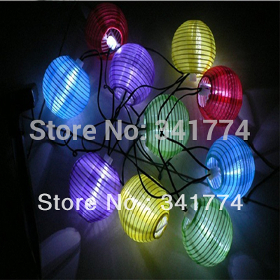LED Solar Panel Light 10 LED Luz De Fairy lantern String Lights for Wedding Holiday Party home garden outdoor Decoration