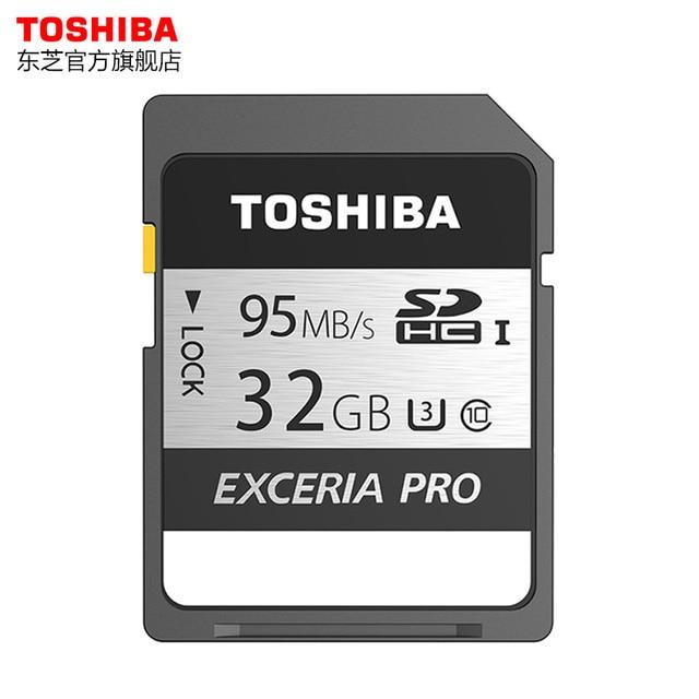 Toshiba Карты Памяти UHS-I SDXC U3 128 ГБ 95 МБ/с. 64 ГБ SD 4 К карта 32 ГБ SDHC Флэш-памяти EXCERIA ПРОФЕССИОНАЛЬНЫЙ Цифровой SLR Камеры Видеокамеры Д. в.