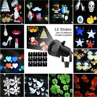 12 Pattern Outdoor Garden Laser Projector Lamp Valentine's Day Halloween Christmas Landscape Laser Projector Lamp