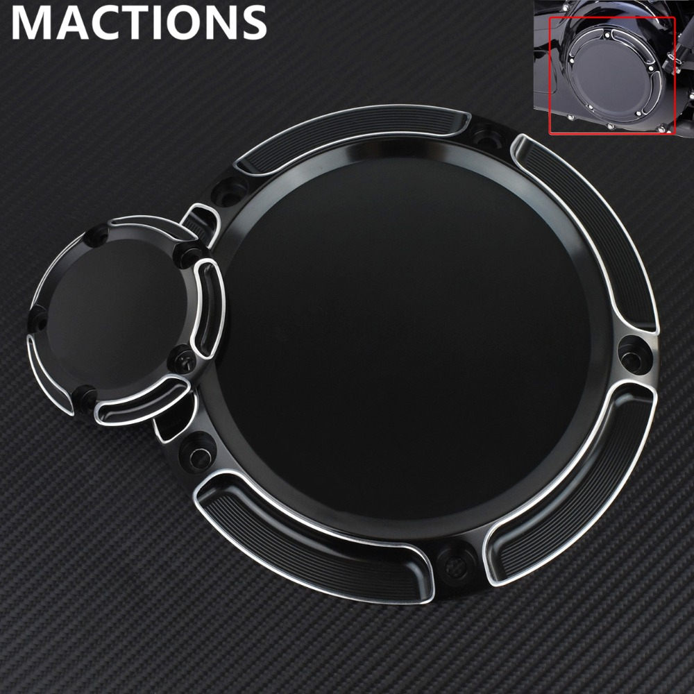 Derby Cover & Timer Timing Cover For Harley Motorcycle CNC All Black CNC Styling For Road King Softail Dyna FLHRS FLTFB-in Covers & Ornamental Mouldings from Automobiles & Motorcycles    1