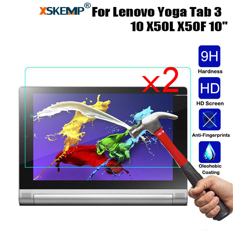 Galleria fotografica XSKEMP 2Pcs/Lot Ultra Clear 9H Hardness Real Tempered Glass For Lenovo Yoga Tab 3 10