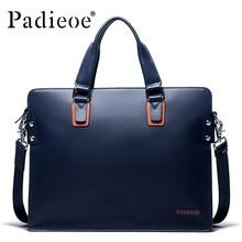 Padieoe 2016 Fashion Men's Shoulder Bags Genuine leather Men's Messenger Bags Big Capacity Breifcases Business Handbags