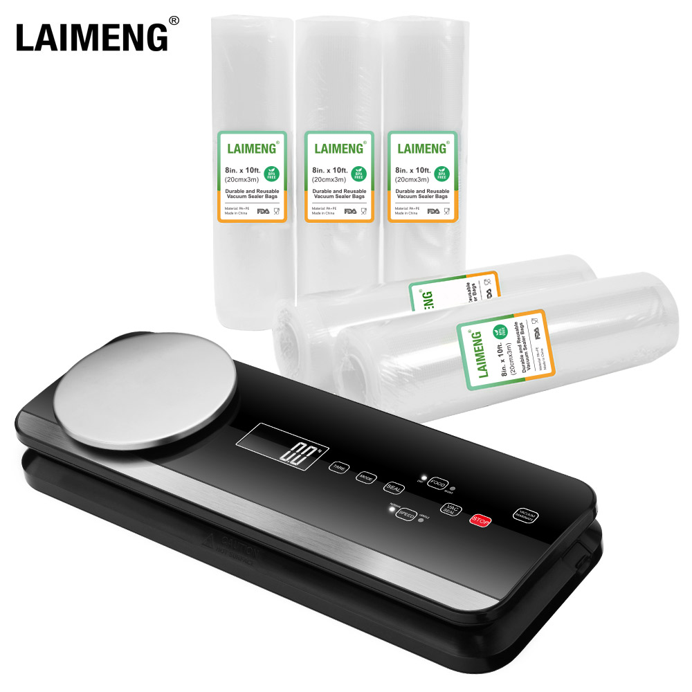 Laimeng Fully Automatic Vacuum Sealer Machine with Starter Bags & Rolls Safety Certified Vacuum Food Sealer for Food Savers S259 Vacuum Food Sealers     -