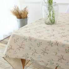 Vintage European Stlye Popular Table Cloth Linen Rectangular Table-Cloth Wooden Grain Dustproof Bar Restaurant Tabl0 Cove(China)