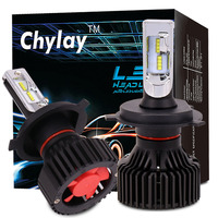 One Pair H4 Hi Lo H7 H11 9005 9006 H13 Led Car Headlight ZES Chips 6500K