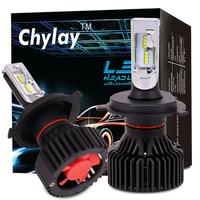 One Pair H4 Hi Lo H7 H11 9005 9006 H13 Led Car Headlight ZES Chips 6500K