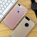 Novos casos de telefone ultra fino para apple iphone 7 case rosa de ouro tpu + pc capa dura de volta para apple iphone 7 plus case granel por atacado