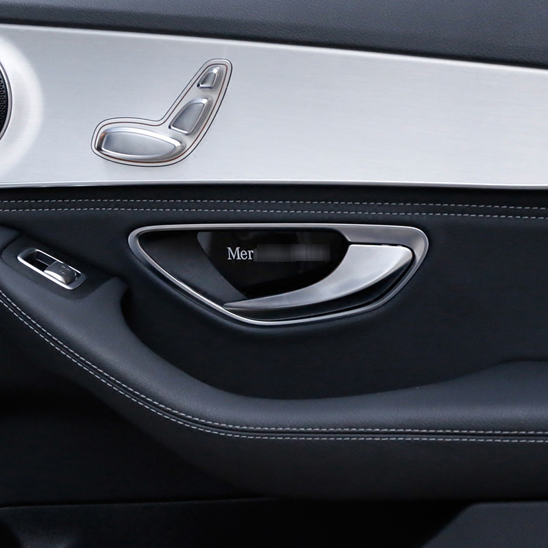 Superb Car Styling Inner Door Inside Door Bowl Panel Wrist Cover Trim Stickers For  Mercedes Benz C E Class GLC W204 W205 W212 W213  In Car Stickers From ...