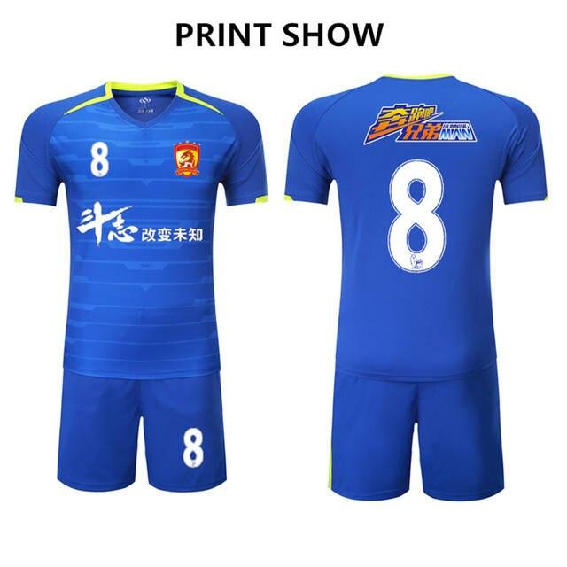 2017 new arrival V collar men football jerseys set blank soccer team  training suit mesh breathable d91689eda