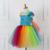 Meu Pequeno Cavalo Do Bebê Meninas Tutu Vestido de Criança Aniversário Do Partido Dos Miúdos Vestidos Para Meninas Traje Cosplay Dos Desenhos Animados Da Princesa Vestido de Tule