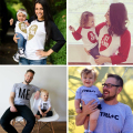 Babyinstar Family Matching Outfits Popular Pattern T-Shirt Long Sleeve Top Tees For Spring Dad Mum & Me Clothe