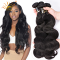 7A Peruvian Virgin Hair Body Wave Peruvian Body Wave 4 Bundles Peruvian Human Hair Bundles Unprocessed #1B Virgin Hair Body Wave