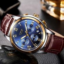 LIGE montre bracelet de Sport à Quartz pour hommes, marque supérieure, étanche, analogique, pour affaires, de luxe