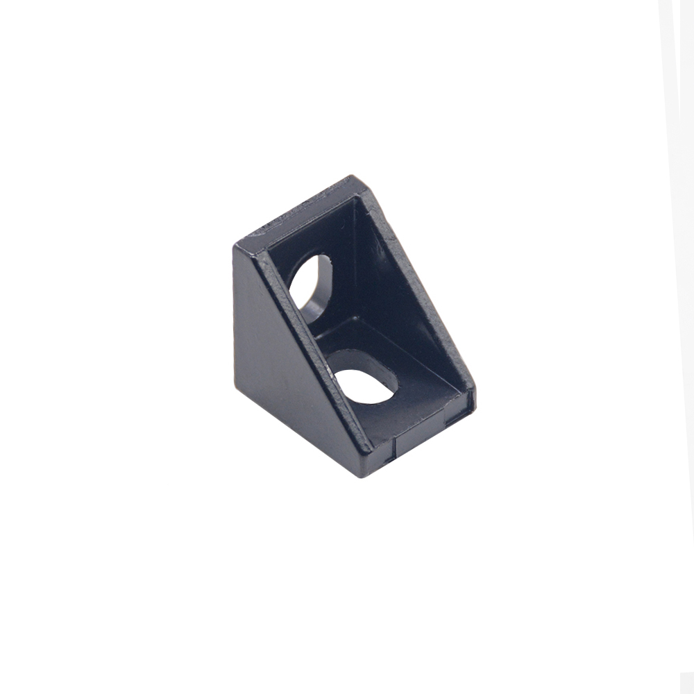 25PCS 2020 Black Corner Bracket Fitting Angle Aluminum 20 X 20 X 17mm L Connector For Aluminum Profile CNC