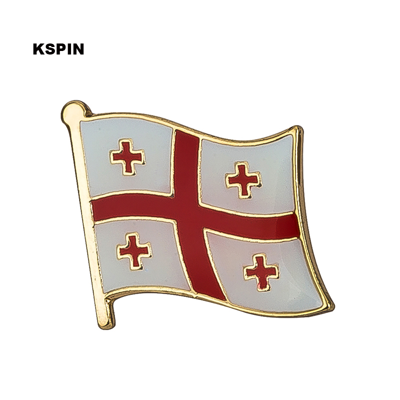 Georgia flag badge pin lapel pin 100pcs a lot Brooch Icons KS 0069-in Badges from Home & Garden    1