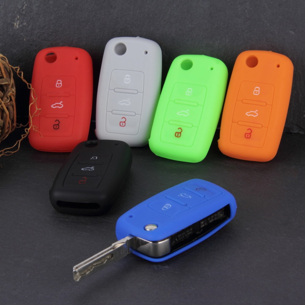Universal Silicone Car Key Holder Case Cover Candy Color Turma do Chaves Case Car font b