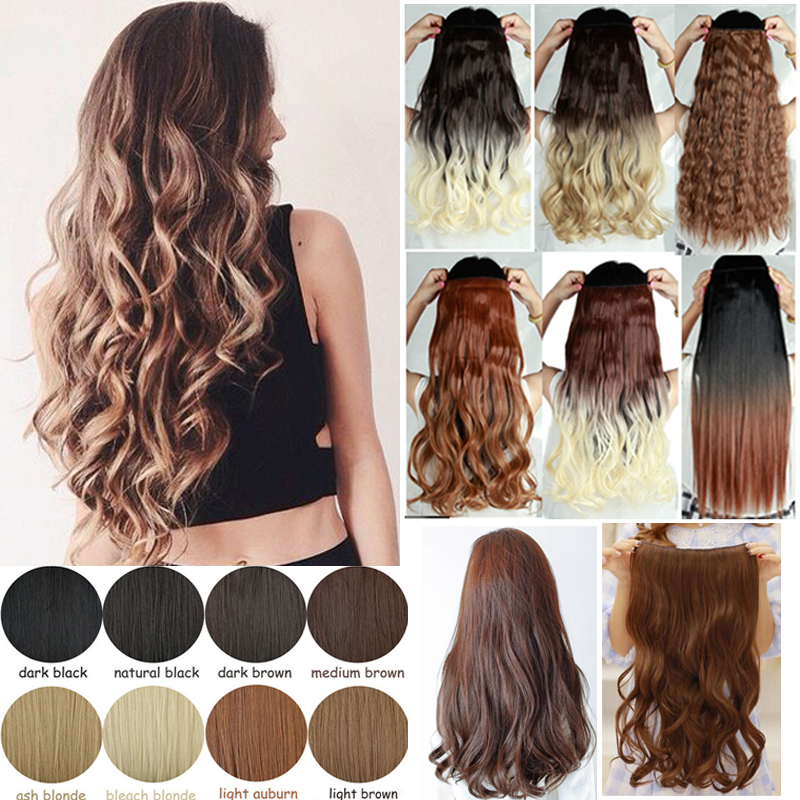5 clips ombre clip in hair extensions synthetic hair wefts natural 5 clips ombre clip in hair extensions synthetic hair wefts natural hair one piece blonde brown auburn on aliexpress alibaba group pmusecretfo Images