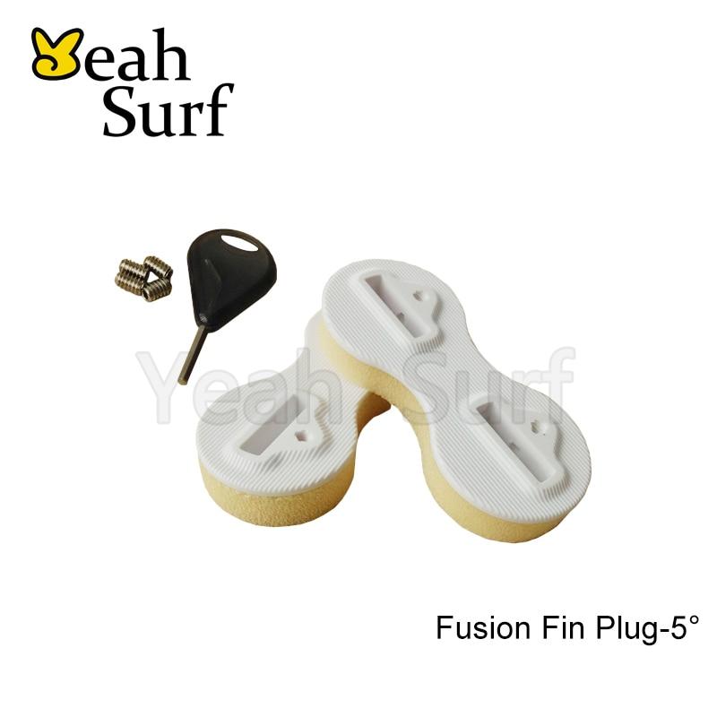 SUP Prancha de Surf Fin Fusão Plugs Branco 5 Grau Caixa com Chave Fin Fin FCS