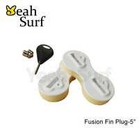 Deska SUP Surf Fusion Fin wtyczki biały 5 stopni FCS płetwy pudełko z Fin Key