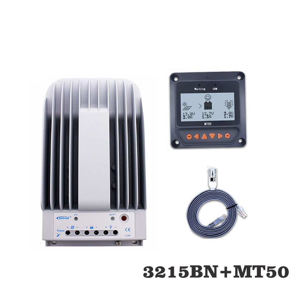 Tracer3215BN 30A MPPT Solar Panel cell battery charger control 3215BN with MT50 Remote Meter LCD DisplayTracer3215BN 30A MPPT Solar Panel cell battery charger control 3215BN with MT50 Remote Meter LCD Display